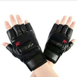 Men's Leather Driving Motorcycle Climbing Half Finger