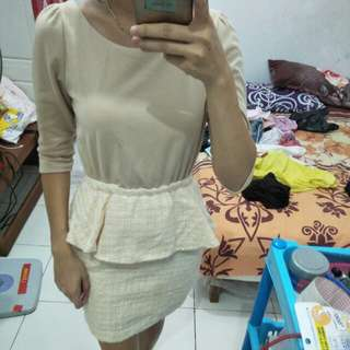 SALE PEPLUM DRESS
