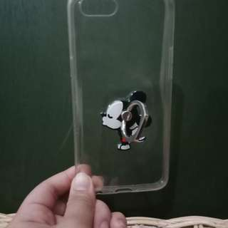 Oppo a83 clear phone case with mockey mouse ring holder