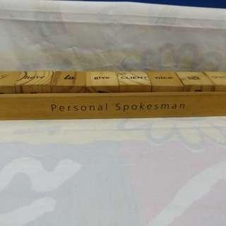 二手木製 PERSONAL SPOKESMAN 連木製座一套 9 件