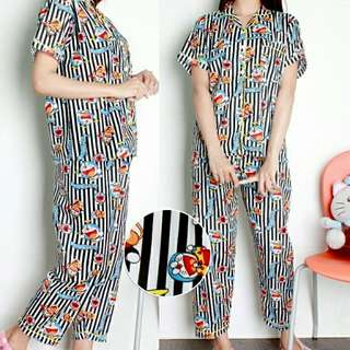 3 Warna Setelan baju tidur Set Piyama Dora Salur piyama katun motif