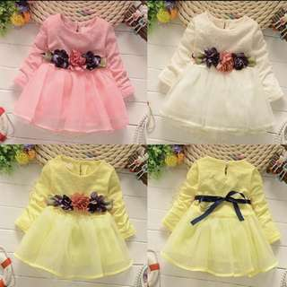 [PRE-ORDER] BABY GIRL'S BIRTHDAY PARTY DRESSES BOW FLOWER PRINCESS DRESS