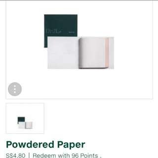 😍CRAZY $1.50 SALE!!!😍NO MORE EMBARRASSING OILY FACE😄HIGH QUALITY POWDERED PAPER THAT KEEPS OILY SKIN IN CHECK!! 🌹BLOT BEFORE BLUSHER FOR LONG STAYING POWER!!!🌹DR GL Powdered Paper