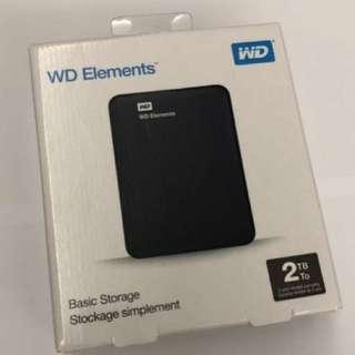 Brand New WD Elements Hard Disk Portable Storage 2TB