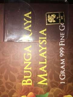 1gram Bunga Raya Gold Bar bawah harga pasaran