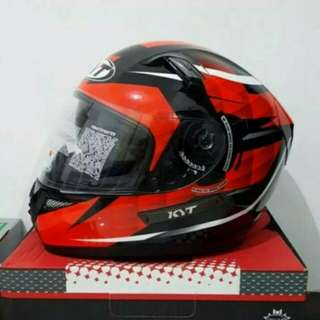 Helm KYT K2 Raider Diamond Black Red