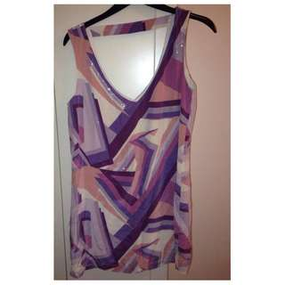 FOREVER NEW 100% SILK DRESS WITH SEQUINS