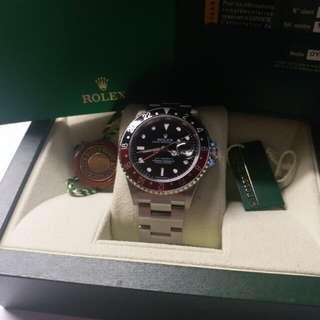 勞力士Rolex 16710 GMT 2 Z頭紅黑stick dial888