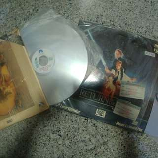 Laser Disc (LD) Star Wars Return of the Jedi and Indiana Jones and the Last Crusade