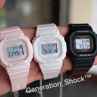 NEW💝ARRIVAL CASIO BABYG 200m DIVER WATCH : 1-YEAR OFFICIAL WARRANTY : 100% Originally Authentic BABY-G-Shock Resistant 3-SPORTY COLOURS in  ABSOLUTELY TOUGHNESS iLLUMINATOR LIGHTS : Best For Most Rough Users & Unisex : BGD-560 / DW-5600 / BGD560 / DW5600