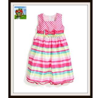 LJ Pink Polka Dots & Stripes Candy Girl's Dress
