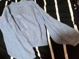 蝙蝠袖冷衫top