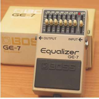 BOSS GE-7 Eqializer 均衡器 效果器 單顆