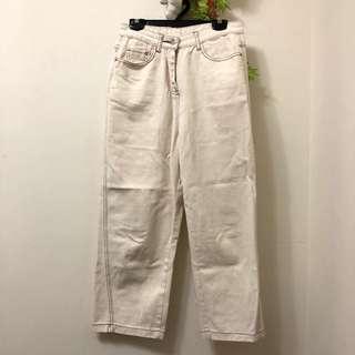 韓版奶油車線褲