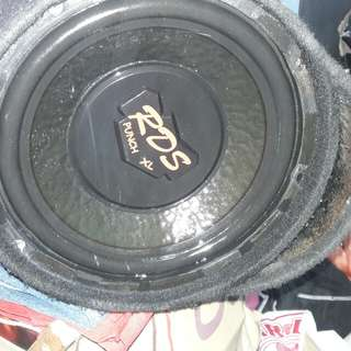 "Sub woofer 10"" RDS punch XL singgle woofer"