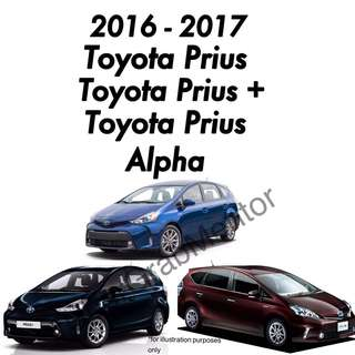Toyota Prius/Prius+/Prius Alpha for UberGrab. 2016 - Brand New Cars for Rental.