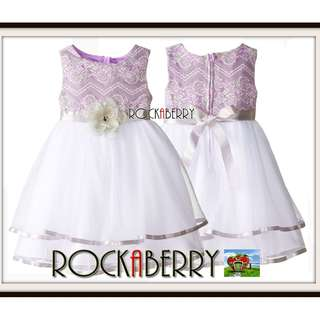 Rare Editions Purple Lace Princess Girl's Dress