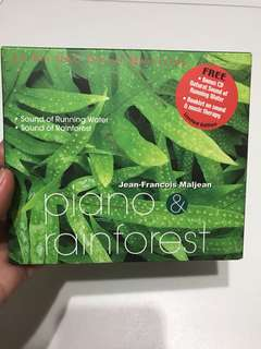 Piano and Rainforest CD by Jean-Francois Maljean