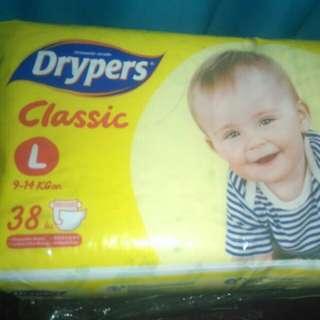 DRYPERS CLASSIC - LARGE 38pcs