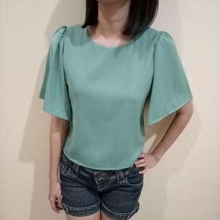 Atasan wanita blouse hijau import