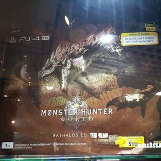 PS4 Pro 1TB Monster Hunter World Rathalos Limited Edition