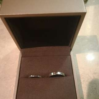 Tiffany Platium Wedding Rings in pair were 30K