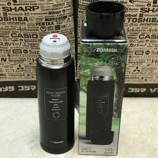 The Very BEST Zojirushi Thermal Stainless Steel Flask 1.03 litres (hot or cold) with cup