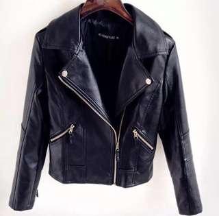 Female Black Leather Jacket