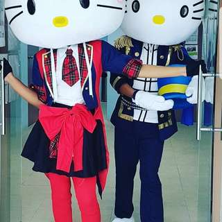 Hello Kitty Mascot Cosplay Kpop