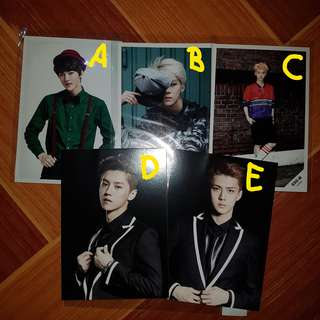[EXO] Sehun and Luhan SD Cards and Postcards