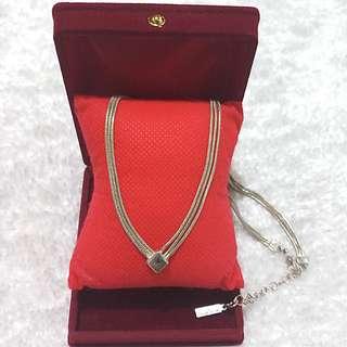 Napier Silver Layered Snake Necklace