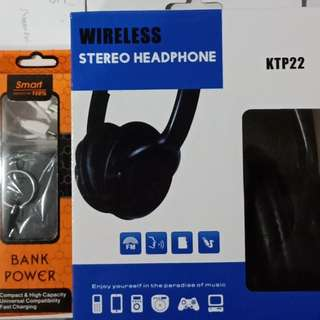Brand New! Bluetooth Headphone plus Powerbank!