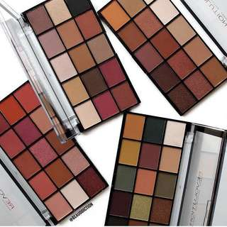 Makeup Revolution reloaded eyeshadow palettes - iconic vitality, iconic division, iconic fever and iconic newtrals neutrals re-loaded