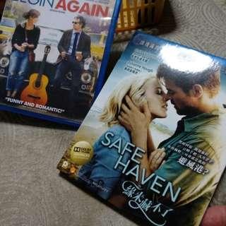 Blu ray, original, Begin Again n Safe Haven