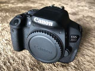 1 x Canon 700D (body and accessories only)