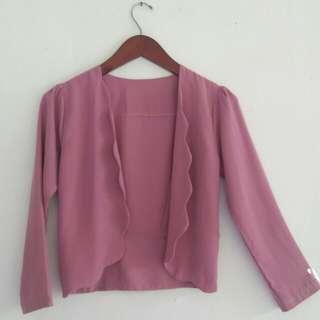 Sale blazer pink lucu