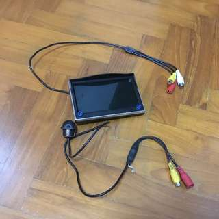 Lancer EX reverse camera and monitor screen with base mount