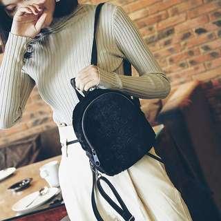 Furry Velvet Small Backpack
