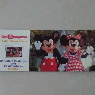 Walt Disney World 美國做明信片一套,全新未用但歲月會留痕。完美主義者勿入。
