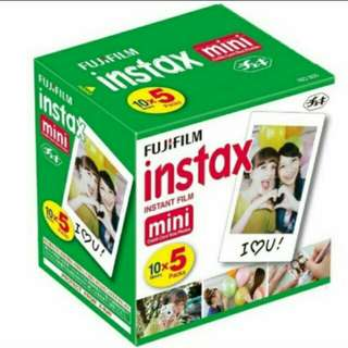 SOLD - Mini Instax Polaroid Film Pack of 50