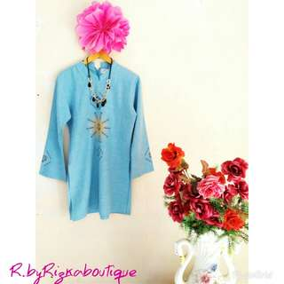 ❤OFFICE HOUR❤ Blue Tunik