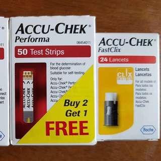 ACCU-CHEK (blood glucose check) - test strips