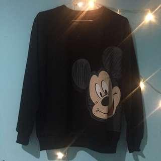 Mickey Black Sweatshirt 📦FREE ONGKIR📦