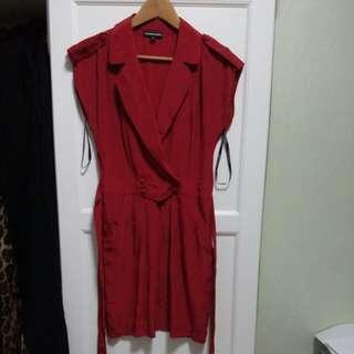 Warehouse Silk Red Dress