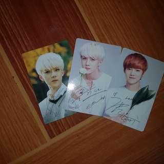 [EXO] Sehun and Luhan Nature Republic Photocards