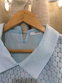 light blue lace top
