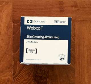 🍎 Alcohol Wipes 200's : Webcol