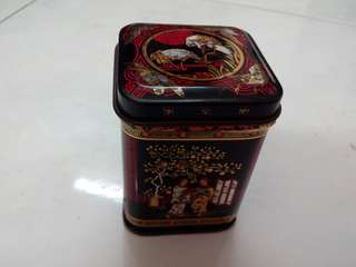 90's Vintage Small Tin Tea Canister 4.5 x 6.2mm