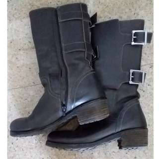 Women Knee High Winter Boot Black Sz36