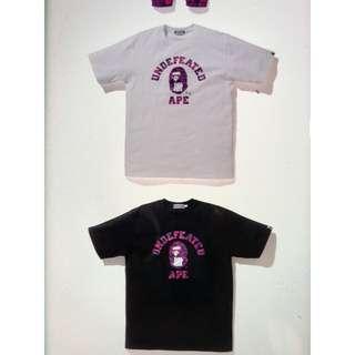 BAPE x undefeated tee shirt